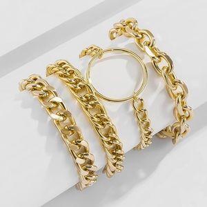 14K Gold Chunky Bracelets Classy